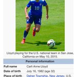 "Carli Lloyds #wikipedia entry lists her playing position as ""president of the United States"" #USA http://t.co/FcbGDWfX21"