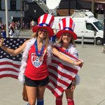Crowd huge at Terry Fox Plaza before #FWWC2015 final. #USA #USA #USA #cbc http://t.co/53KSqQKhJC