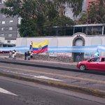 Bandera gigante de #Argentina y #Ecuador se ubica en la Whymper y 6 de diciembre en #Quito http://t.co/aZhfeKR2qx (Cortesía:@criskbezas)