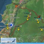 14h21: El vuelo AZ4000 de Alitalia, en el que viaja el Papa Francisco, ingresó a territorio ecuatoriano, http://t.co/nF0I5AItR8