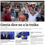 Portada de un día histórico. Grecia dice No a la Troika. eldiario.es. http://t.co/SfmhJpaf8R
