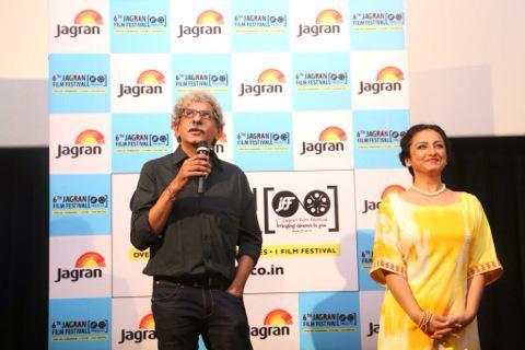 Jagran film festival showcasing badlapur in delhi. Wt my director ... Sriram Raghwan.. http://t.co/KfVW5D4Y0h