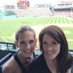 Take us out to the ballgame! What a perfect day to see the @RedSox with @ErikaWCVB. Go Sox #wcvb http://t.co/aW3mefGdL9