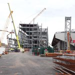 Latest pictures from Anfield as #LFCs new Main Stand continues to take shape http://t.co/d05hYTQ6TX http://t.co/929vUg1uQH