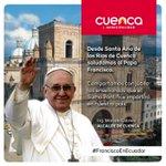 Bienvenido @Pontifex_es Santo Padre que llega a nuestro Ecuador y todos los recibimos con el corazón abierto. http://t.co/aHAVhB40fm