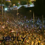 Flags Flying: #OXI (NO) voters celebrate at #Syntagma Square #Grefenderum (LIVE) http://t.co/1N8JrtlH3U http://t.co/1SmcghTBPn