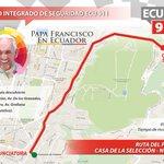 ATENCIÓN: @Pontifex_es se desplazará desde cementerio Monte Olivo hacia Nunciatura en Papa Móvil. #FranciscoenEcuador http://t.co/eVqXSOovdB