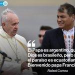 [SEÑAL EN VIVO] Presidente @MashiRafael dio la bienvenida al #PapaFrancisco » http://t.co/1rNYHDUZhb http://t.co/QGuk424Qga