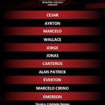 O @Flamengo está escalado para o jogo de hoje. Dê a sua opinião com a hashtag #FlaAoVivo. http://t.co/ASrIsYZ5Kd