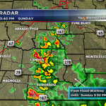 Heavy rains still moving across parts of Calhoun and Ouachita Co. #arwx #TurnAroundDontDrown http://t.co/HrIni3z6qg