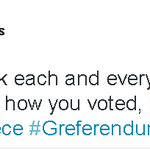 Tonight we are all one - Greek PM Tsipras reacts to #Greferendum vote http://t.co/xcgFi8Ur55 http://t.co/lLPMw65Rvn