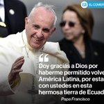 [EN VIVO] Palabras del #papaFrancisco tras su arribo a #Ecuador » http://t.co/HsZG8oYXiH http://t.co/X0TZOV1hsf/ @elcomerciocom