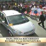 #PapaFrancisco inicia recorrido rumbo a la Nunciatura. Síguelo en: http://t.co/MzKuhGyn2X #ElPapaEcuavisaYyo http://t.co/luqzk310fg