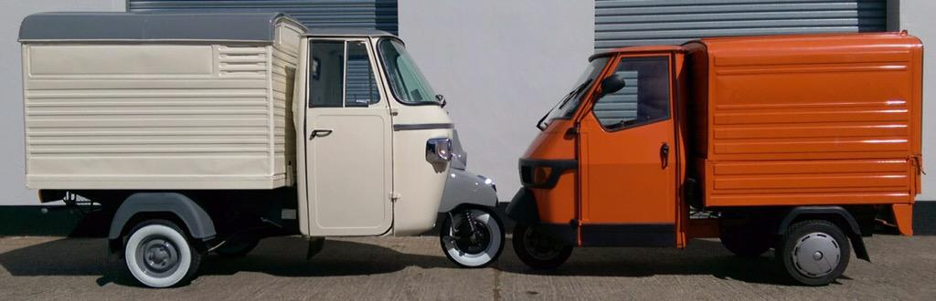 The difference between an Ape 50 & our Classic van is clear #piaggioape #piaggio #ape #coffeetime #streetfood http://t.co/eh8Z6UVSwi