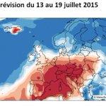 Selon un modèle Suisse, chaleur excédentaire mais decrescendo en France jusquà fin juillet #Canicule2015 http://t.co/H6MvNhhe35