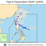 PAGASA, 5 am: #EgayPH has remained almost stationary over Luzon sea. http://t.co/ghx5WMjpzx http://t.co/V3BMSF3k54