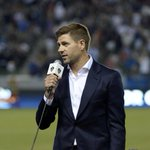 After 17 years at Liverpool this looks a little odd. Steven Gerrard address new fans. Watch http://t.co/TgCi4R012T http://t.co/qvm7AFk8DP
