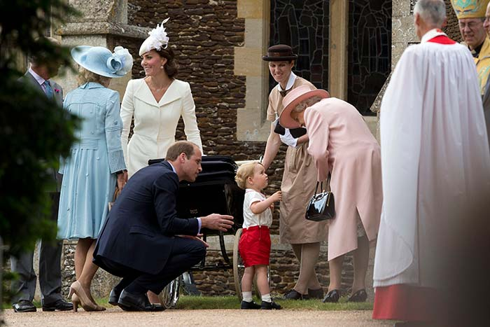 Photo of the day for me. The first monarch of the 21st century chatting to the potential first of the 22nd. http://t.co/BuWPsp2baK