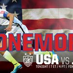 Good luck @ussoccer_wnt were behind you! #OneMore #OneNationOneTeam http://t.co/vj9sIiferp