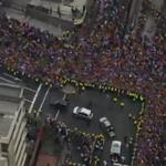 .@Pontifex_es llega a Nunciatura Apostólica #FranciscoEnEc http://t.co/FmLuatxFy7
