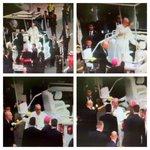 Papa Francisco arriba a la Nunciatura sin novedad. Cámaras de @ECU911Quito registraron todo su recorrido. http://t.co/cAr9p9flIu