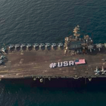 The @USNavy has caught World Cup fever, tweeting out this pic in support of the #USWNT before #USAvJPN. http://t.co/KcpqBpAqQH