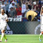 Goal celebrations! For @laurenholiday12s goal and then @CarliLloyds third! http://t.co/wEn37zr9hV