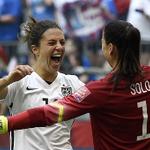 Watch an INCREDIBLE 50-yard strike from #USAs Carli Lloyd: http://t.co/RQgUfaBtoV #USAvJPN #FIFAWWC http://t.co/ZBCPkjtnqK