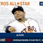 .@JoseAltuve27 voted as starting second baseman for the AL All-Star team. #ASG http://t.co/AQOxiuJzfM