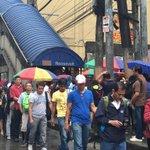 (As of 7:55AM) Napaka-habang pila ng mga pasahero sa LRT Roosevelt Station sa QC. http://t.co/OJmzbsFp50 |... http://t.co/CqOpBBVmSy