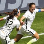 Two goals in five mins? ✅ Goal from over 50 yards out? ✅ ???? trick? ✅ @CarliLloyd & @ussoccer_wnt are running wild!???????? http://t.co/lSyGmc2p3F