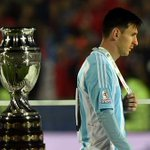 Leo Messi was too distraught to accept the Copa America player of the tournament award... http://t.co/F46RHuCAfM http://t.co/6Iqx38qOGv