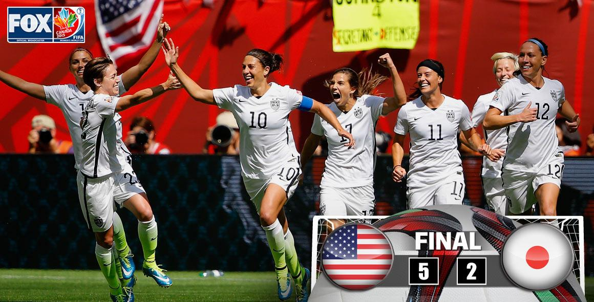 PARTY LIKE IT'S 1999! THE #USA ARE WORLD CUP CHAMPIONS FOR THE THIRD TIME! #FWWConFOX #USAvJPN http://t.co/ic2avDdMLT
