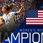 Congratulations, @ussoccer_wnt! #FIFAWWC champions for the third time! http://t.co/d8IAijCofD