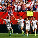 YES, I DO BELIEVE. #USA defeats #JPN 5-2 to win #WWC2015! USA are CHAMPS for the first time since 1999 #SheBelieves http://t.co/nJZ3FvDZhT