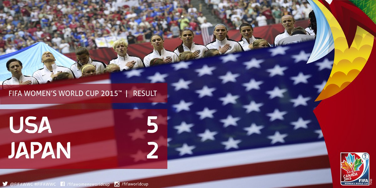 #USA have won the 2015 #FIFAWWCFinal. http://t.co/p3EMIUUx5K