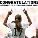 Congrats to @TobinHeath, @alexmorgan13 and the #USWNT! #FIFAWWC Champs! #BAONPDX http://t.co/wqKwwPOjzC