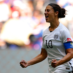 Carli Lloyd's hat trick was the fastest in WORLD CUP HISTORY, for women or men  Live reaction: http://t.co/ZF5juXRRTt http://t.co/VAVCTvXscT