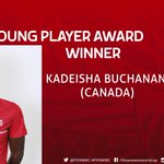 AWARDS: The Hyundai Young Player Award goes to @keishaballa. Congratulations! #CAN #FIFAWWC http://t.co/YGUjbPYOpO