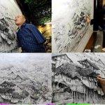 صورة مؤثرة| رسام لايملك يدين ولكن يملك عزيمه واصرار .   قال حكيم : من الصعب هزيمة شخص . لم يهزمه اليأس من داخله. - http://t.co/5uIDMjeY5Q