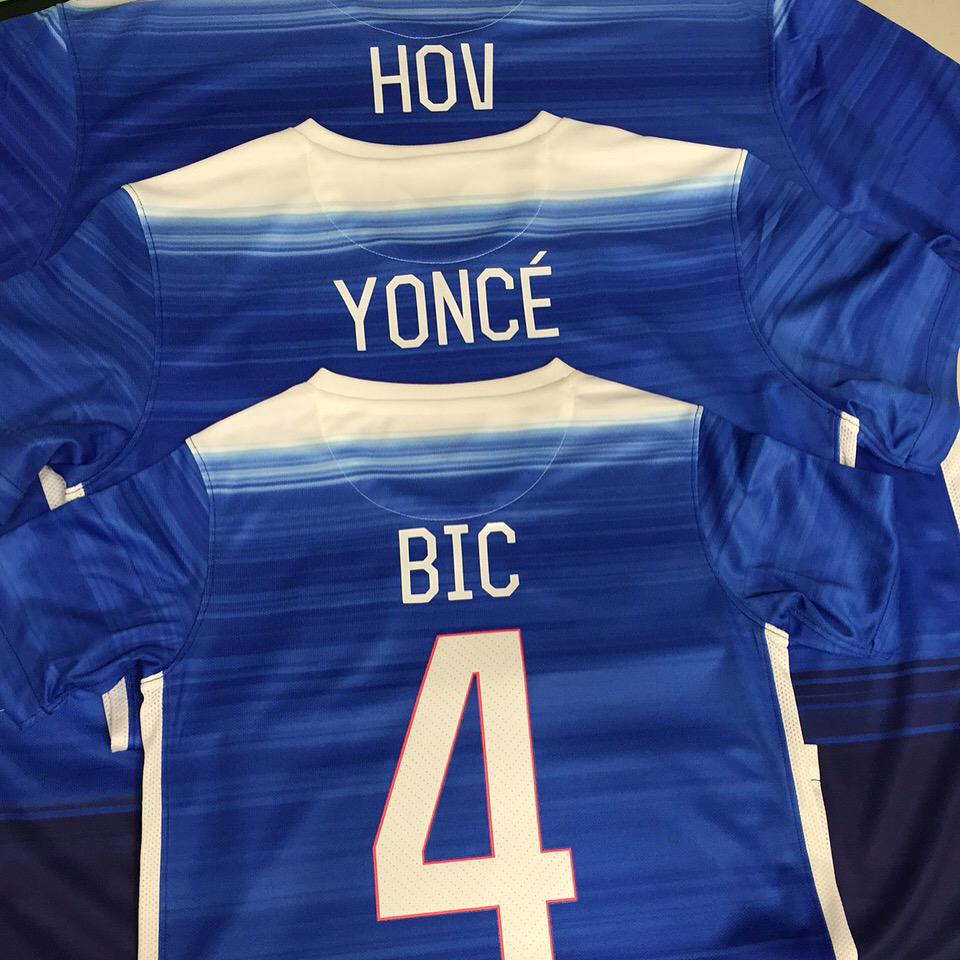 Had the honor of pressing these 3 kits for @S_C_ @Beyonce and Blue Ivy. Just in time to celebrate a WWC victory! #USA http://t.co/x7ih7Dp112