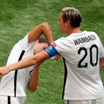 Carli Lloyd was the #USWNT star, but she made sure Abby Wambach got the captains armband when the legend checked in. http://t.co/kEXpNQ0vBx