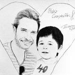 """""""@byCosmina: Este es mi regalo para ti.Un retrato donde estas tu junto a ti siendo niño. @sebastianrulli http://t.co/6Xu8NqZRt8""""Que belleza😍"""