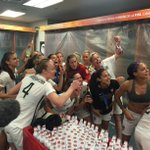 Congrats 2 these ladiesRT @ussoccer_wnt: Locker Room Look-in: What do you do when you are World Champions? #Celebrate http://t.co/kvftnn14GN