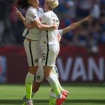 Players from @FCKansasCity cheer on teammate Lauren Holiday, who scored once in @FIFAWWC http://t.co/gE9ByobAGr http://t.co/DP2FJrShM8
