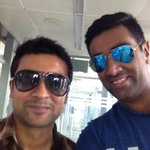 Pleasant meeting after a long time,good luck with your next movie @Suriya_offl . http://t.co/9vwgGotCbE