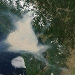 Satellite view shows massive plume of wildfire smoke over Metro #Vancouver http://t.co/FHLKMmA2g2 http://t.co/9JcgRPLAmU