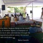 """@OfficeOfRG: Paying tribute to Babu Jagjivan Ramji http://t.co/ISiCnOfENe""*"