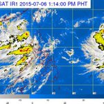 As of 01PM today 06 July 2015, TS #EgayPH was estimated at 180km NW of Laoag City, Ilocos Norte (19.2°N,119.2°E) http://t.co/FbNuCuf7xi