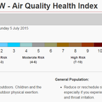 """WARNING: Environment Canada now says the Air Quality Health Index in Metro Vancouver is """"Very High Risk"""". http://t.co/l3mV8vsDnh"""
